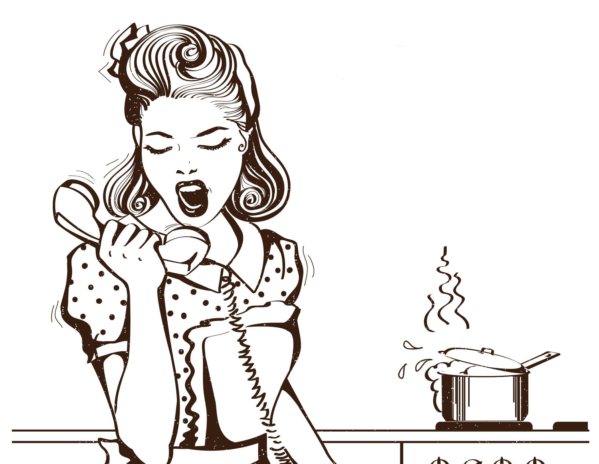 Sju Hofman - Besna domacica - Ilustracija