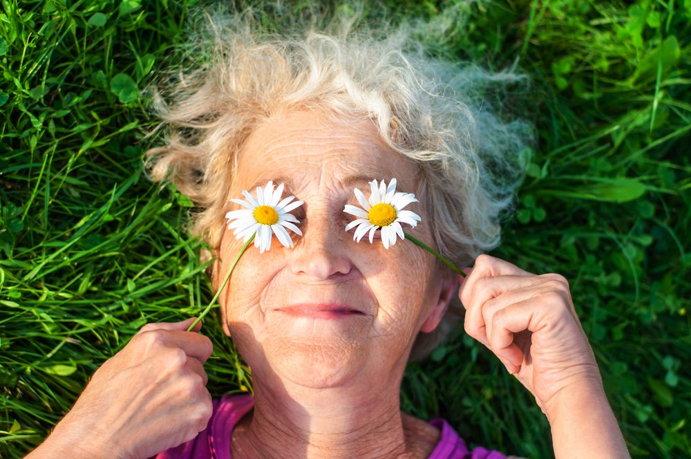 baka sa cveticima na ocima