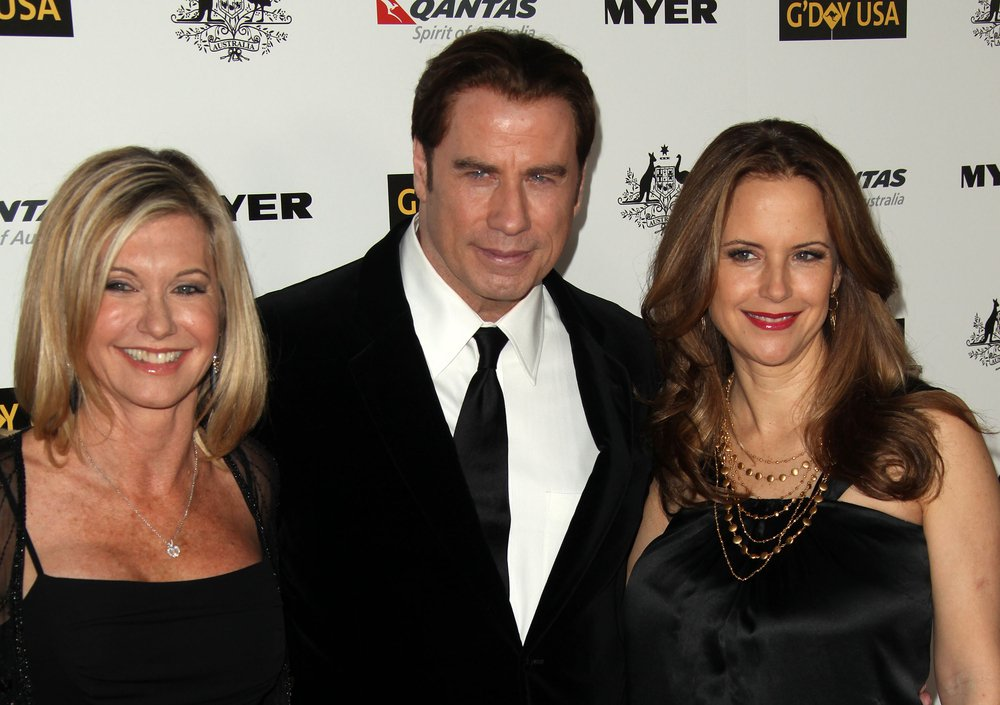 Olivija Njutn Dzon, Dzon Travolta i pokojna supruga Keli Preston