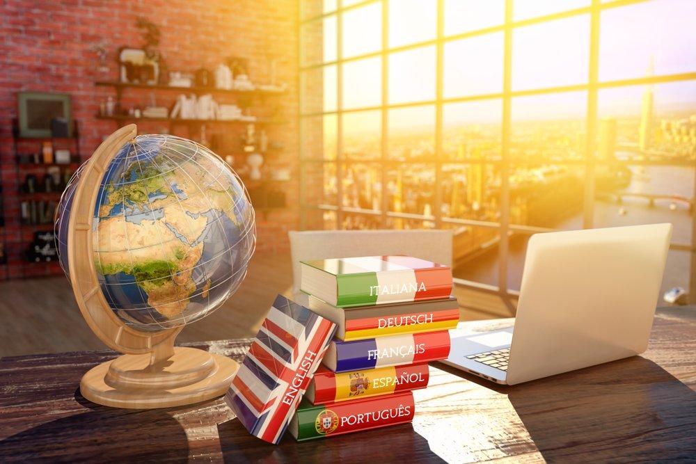 globus, recnici, laptop