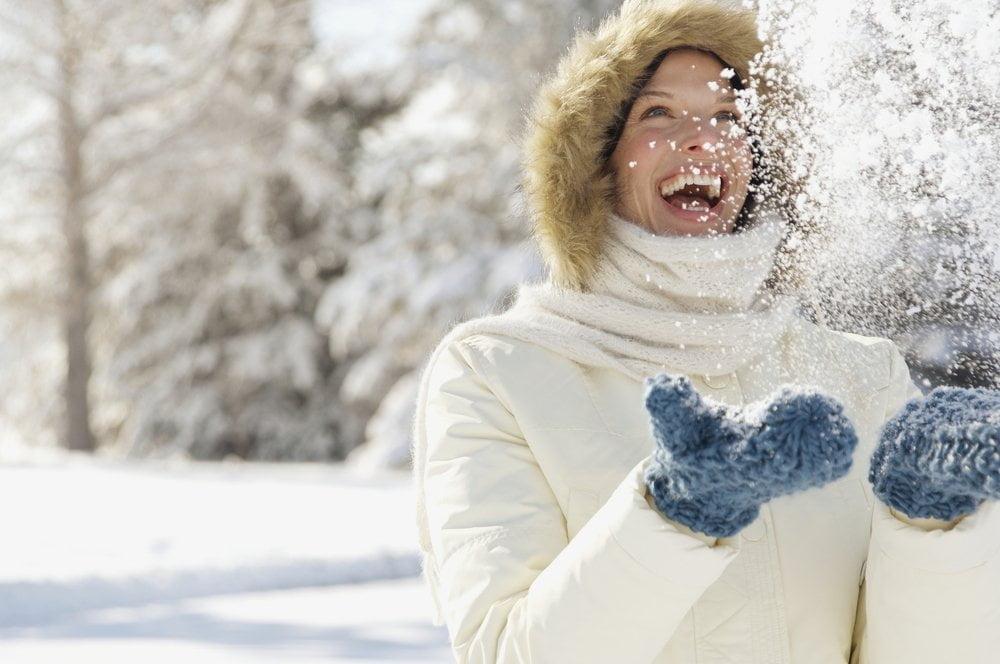 devojka na snegu