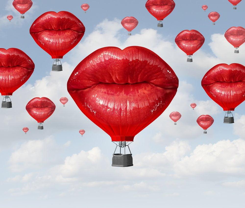 baloni u obliku usana