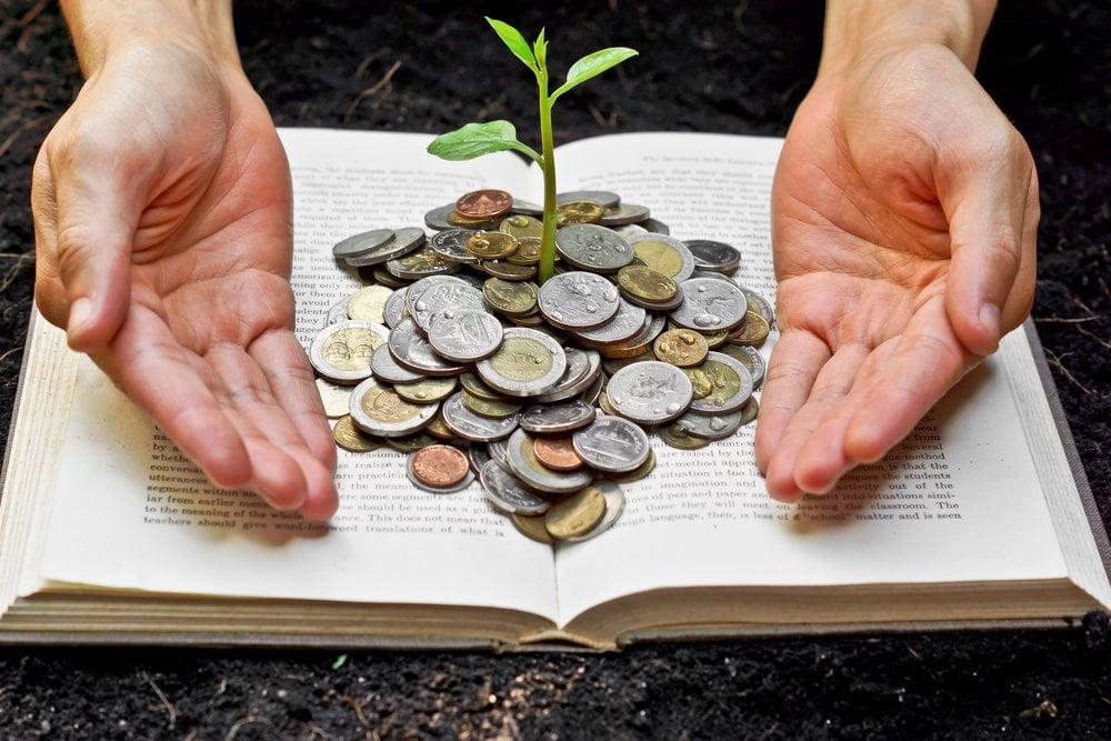 novac na knjizi