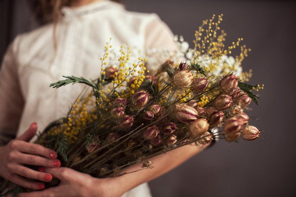 Buket od suvog cveća