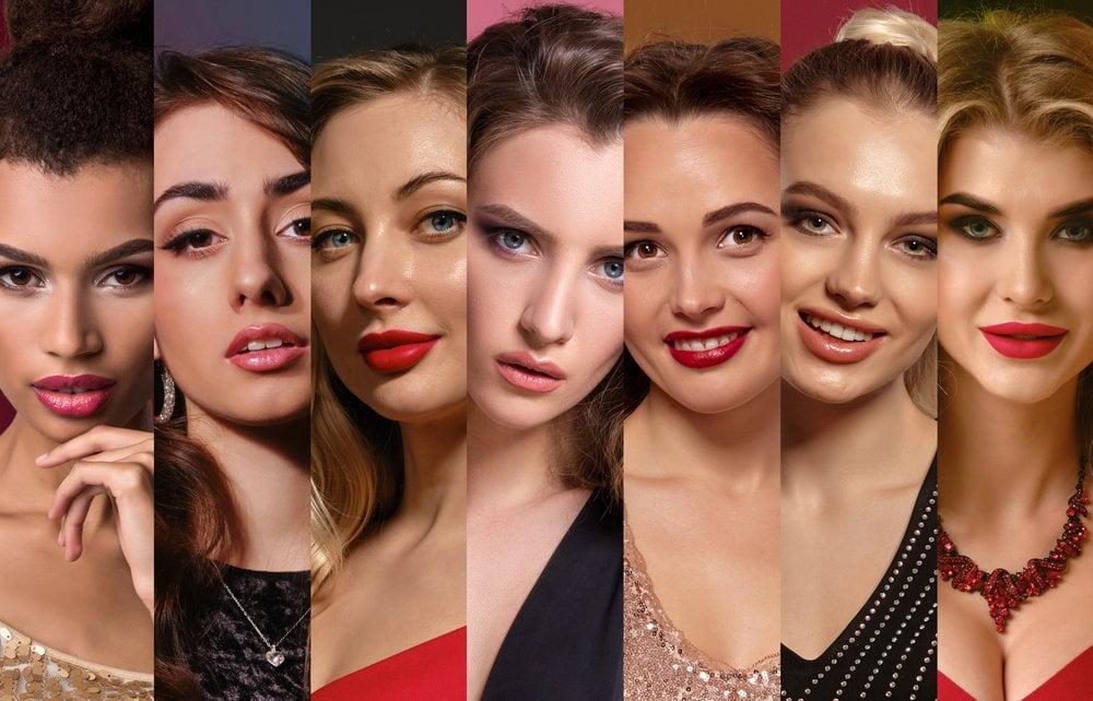 Žene sa različitim tipovima kože