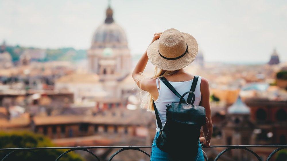 Žena u Firenci - turista